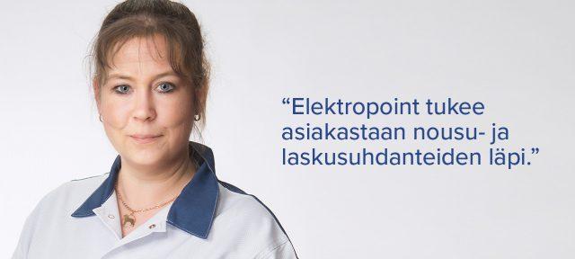 Elektropoint Hollola asiakkuuspaallikko Riikka Stenlund